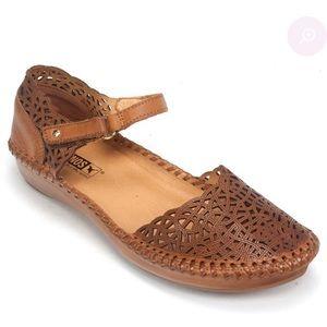 PIKOLINOS Puerto Vallarta Leather Mary Jane Flats